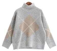 Lease argyle knit