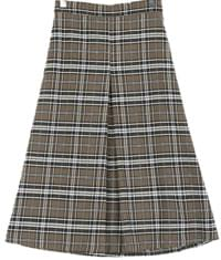 Mino check skirt