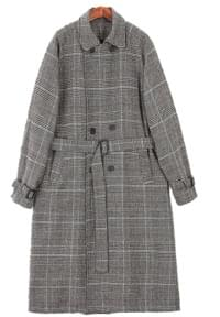 Coron Check Trench Coat