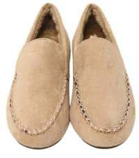 Clear stitch fur loafer_J
