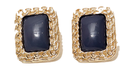 Vintage gold frame earring_B (size : one)