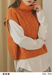 TRENDY HIGH NECK KNIT VEST