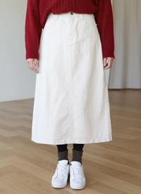 A line cotton long skirt