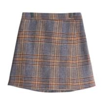 Cherry Big Check Lap Skirt