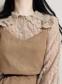 Lace color blouse