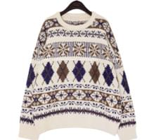 NEED WOOL SNOW PATTERN KNIT