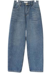 warm lining baggy denim (2colors)