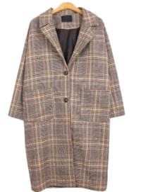Bainat check coat 大衣外套