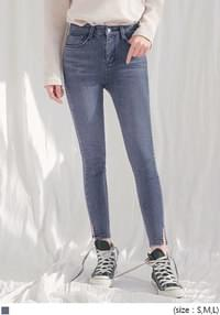 BEAT NAPPING SLIT DENIM SKINNY
