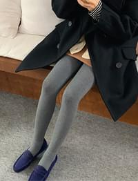 Cotton flannel basic tights_M (size : one)