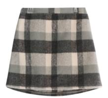 Chess Check Wool Skirt