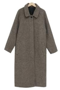 Wool hound-check coat_M (size : free) 大衣外套