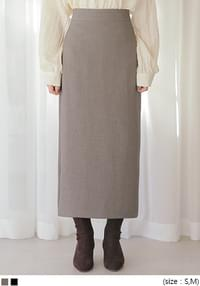 ODEN BACK SLIT SPAN LONG SKIRT