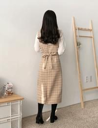 Sherbet wool check dress