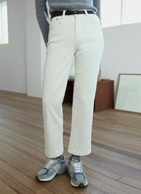 Pitch brushed cotton pants