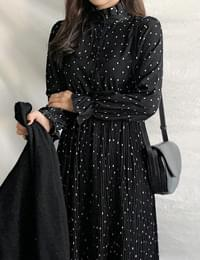 Momo dot long dress
