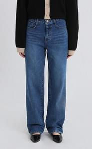 deep blue wide jeans