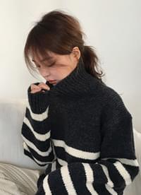 Turtleneck Stripe Knit