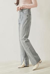 Minky top denim pants