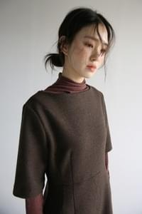 mock neck soft top