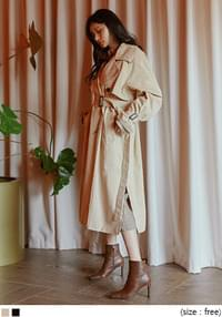 MELODY SIDE SLIT TRENCH COAT
