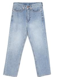 straight-fit denim pants