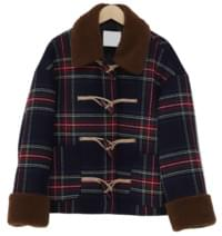 Bear check dumble coat_Y (울 70%) (size : free)