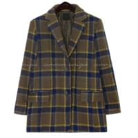 POINT CHECK WOOL HALF JACKET