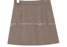 BREEN WOOL HOUND CHECK MINI SKIRT