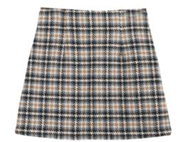 Selenium check wool skirt