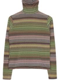 rainbow stripe high-neck top