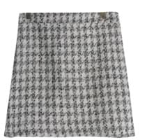 Shine tweed skirt
