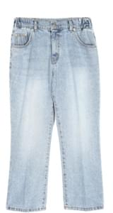 banding crop denim pants - UNISEX