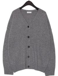 MILD WOOL 50% KNIT CARDIGAN