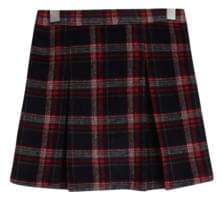 Cherry London pleated check skirt