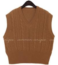 KLING TWIST SLIT KNIT VEST