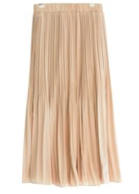 Mini pleated long skirt