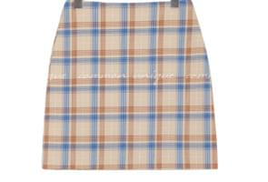 DOLOS CHECK COLOR MIX MINI SKIRT