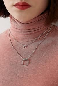 Mood silver necklace