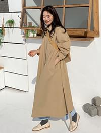 Balloon pintuck trench coat_B