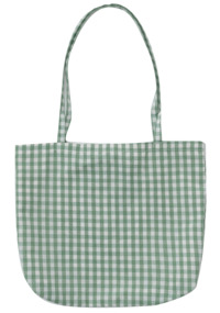 gingham check shoulder bag