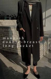 Manny double-breasted long jacket