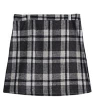 Vanilla check skirt