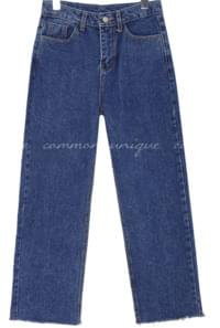 CORING CUTTING WIDE DENIM PANTS