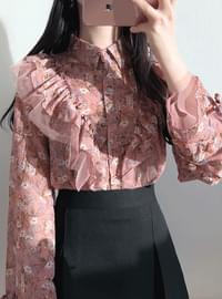 Order rush ♥ mistress calla ruffle blouse / sequential shipment after 25 days
