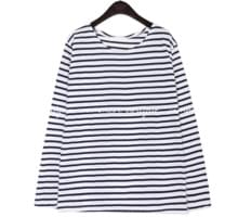 5 COLOR BASIC STRIPE ROUND NECK T