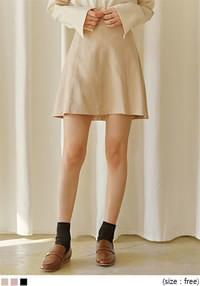 SCONE BANDING FLARE MINI SKIRT