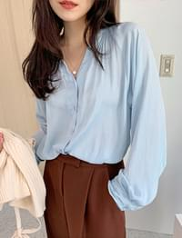 Wafer silky blouse_B