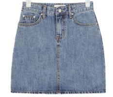 youth denim mini skirt