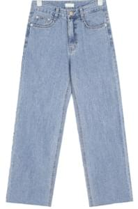 fresh straight denim pants